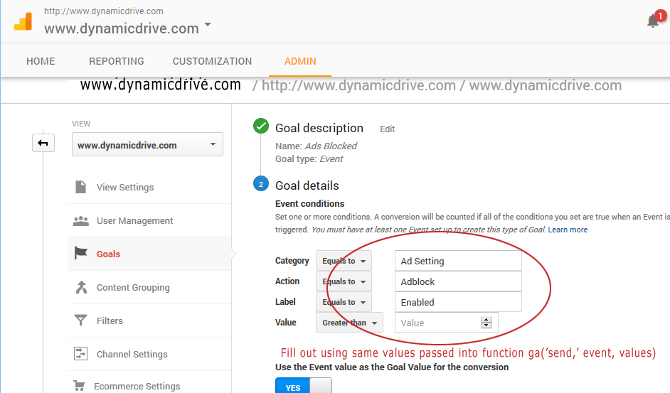 how to set up event tracking on google analytics