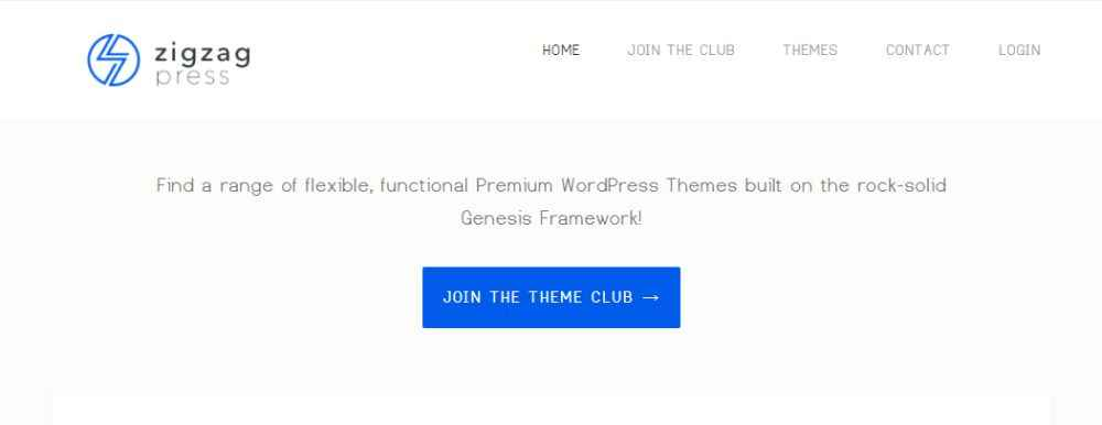 ZigZag Theme Club for Genesis Framework Review