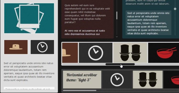 Malihu jQuery custom scrollbar plugin, featuring vertical/horizontal scrollbars, scrolling momentum etc