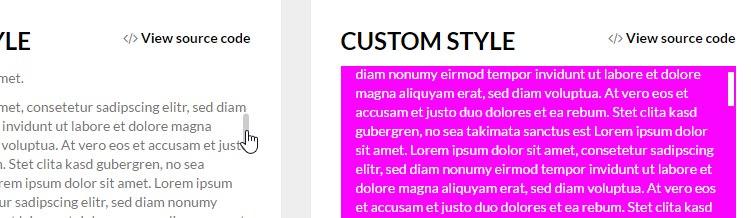 React Custom JavaScript Scrollbar