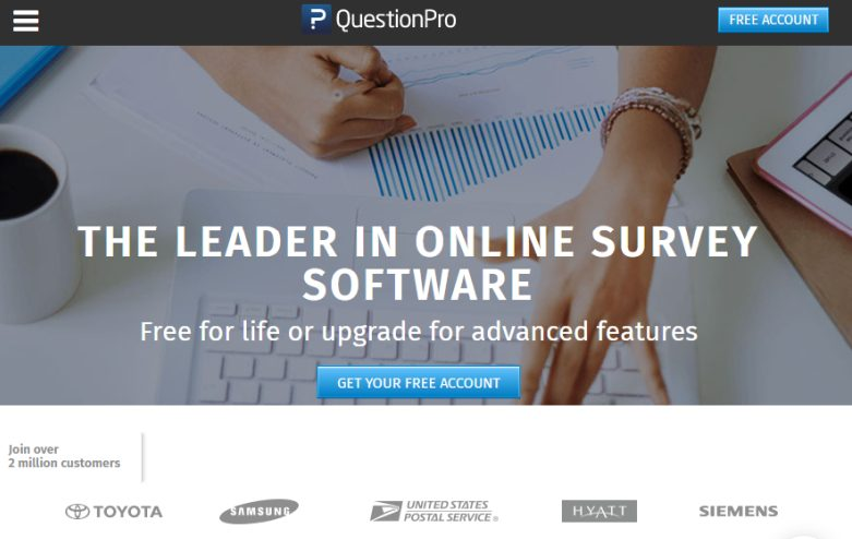 QuestionsPro- Extensive Survey and Question Templates