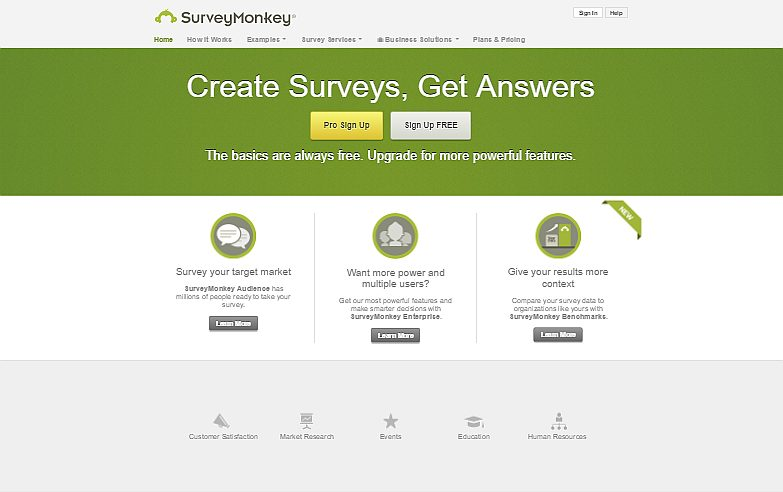 Survey Monkey- One of the most established Survey Form Services online