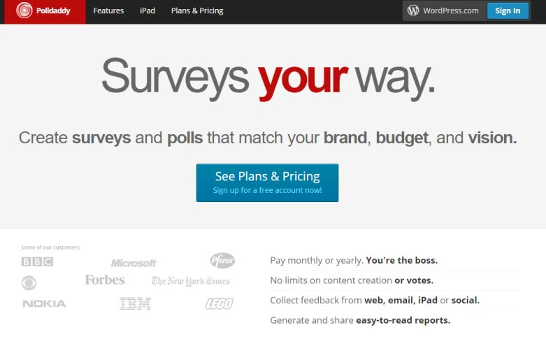 Poll Daddy- WordPress friendly surveys, polls, quizzes, and ratings