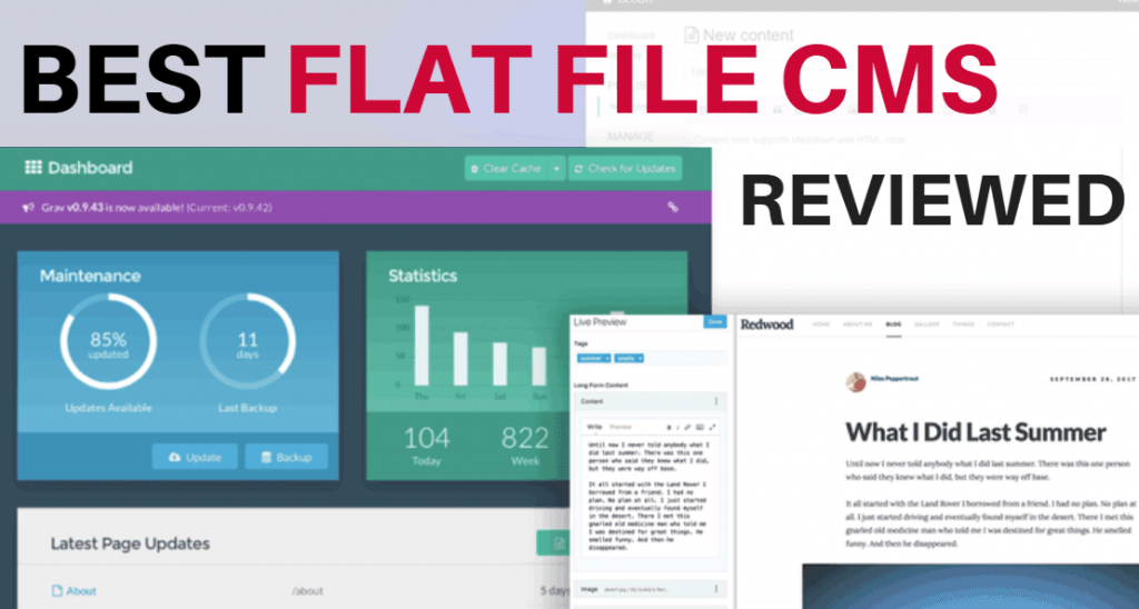 The Best Flat File CMS Reviewed for 2017