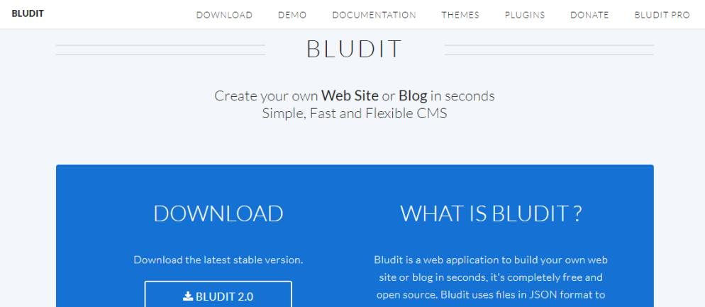 Bludit Flat File CMS Review