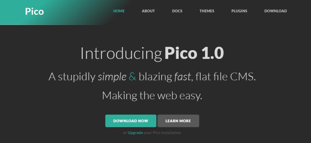 Pico Flat File CMS Review