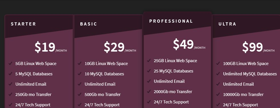 Slant Design Free HTML/CSS Pricing Table