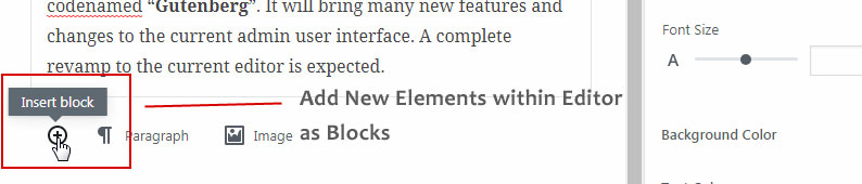 Gutenberg Editor- Add Elements As Blocks within Visual Editor