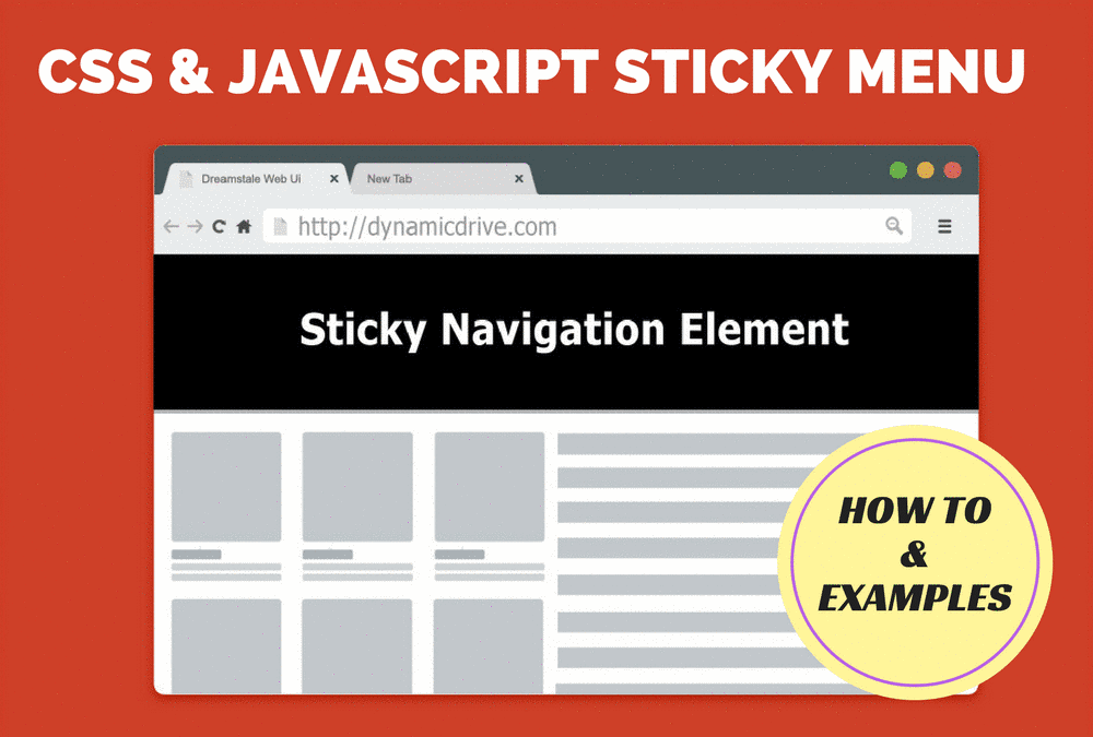 How to Add a CSS and JavaScript Sticky Menu, PLUS 7